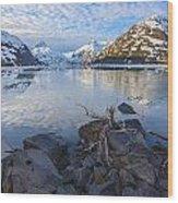 Morning Light At Portage Lake Wood Print
