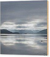Morning Light On The Loch Wood Print