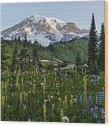 Morning Meadow Wood Print