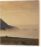 Morning Mist, Connemara, Co Galway Wood Print