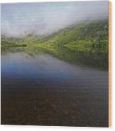 Morning Mist Over Gougane Barra Lake Wood Print