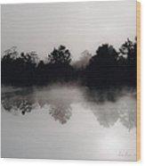 Morning Mist Reflection Wood Print