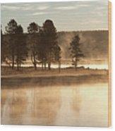 Morning Mists Wood Print by Corinna Stoeffl, Stoeffl Photography