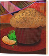 Morning Muffin Wood Print by Melisa Meyers