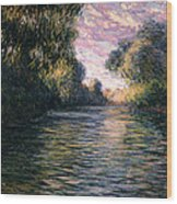 Morning On The Seine Wood Print by Claude Monet