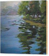 Morning Over Fowler Lake Wood Print