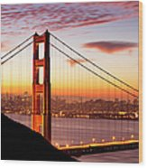 Morning Over San Francisco Wood Print