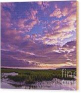 Morning Over The Marsh Wood Print