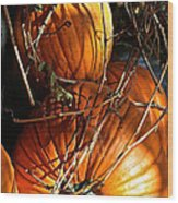 Morning Pumpkins Wood Print