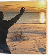 Morning Reverence Wood Print