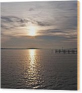 Morning Skies On The Chesapeake Wood Print