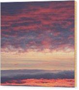 Morning Sky Portrait Wood Print