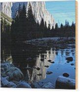 Morning Sunlight On El Cap Wood Print