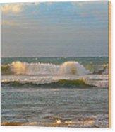 Morning Waves Wood Print