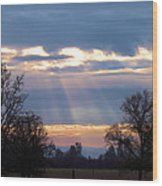 Mornings Heavenly Light Wood Print
