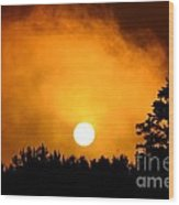 Morning's Mysterious Sunrise Wood Print