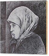 Morocan Girl Wood Print