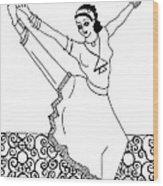 Moroccan Dancer Wood Print by John Keaton