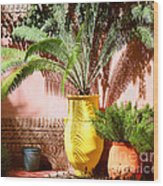 Moroccan Garden Wood Print
