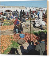 Moroccan Market Photo 01 Wood Print