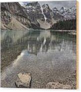 Morraine Lake Alberta Wood Print