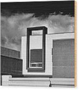 Morrison Window Bw Palm Springs Wood Print