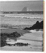 Morro Bay Shoreline V Wood Print by Steven Ainsworth