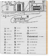 Morse Apparatus And Alphabet, 1877 Wood Print