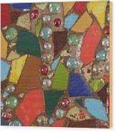 Mosaic Art 1 Wood Print
