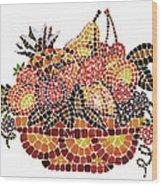 Mosaic Fruits Wood Print