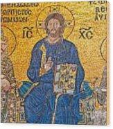 mosaic inside Hagia Sophia  Wood Print