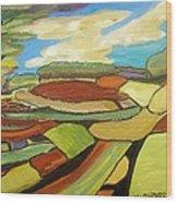Mosaic Landscape Wood Print