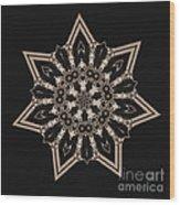 Mosaic Work Of Sepia Art  Wood Print