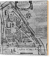 Moscow: Map, 17th Century Wood Print