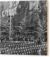 Moscow: Military Parade Wood Print