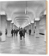 Moscow Underground Wood Print