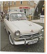 Moscvich Car Wood Print