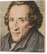 Moses Mendelssohn, German Philosopher Wood Print