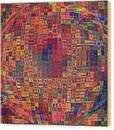 Mosiac Sphere Wood Print
