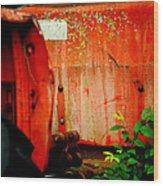 Moss And Rust V Wood Print by Toni Hopper
