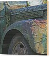 Moss Covered Truck Wood Print