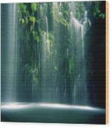 Mossbrae Falls In Sunlight Wood Print