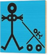 Mother And Baby, Conceptual Artwork Wood Print by Thisisnotme