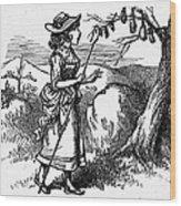 Mother Goose: Bo-peep Wood Print