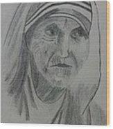 Mother Teresa Wood Print