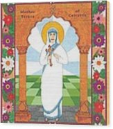 Mother Teresa Of Calcutta Icon Wood Print