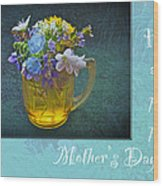 Mother's Day Card - Tiny Wildflower Bouquet Wood Print