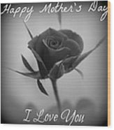 Mothers Day Love Wood Print