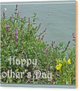 Mother's Day - Wildflowers By The Pond Wood Print