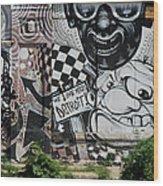 Motor City Graffiti Art Wood Print